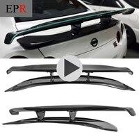 Car styling For Nissan R35 GTR Carbon Fiber VRS Style Hyper Narrow GT Spoiler Wing (Use OEM Brake Lights)