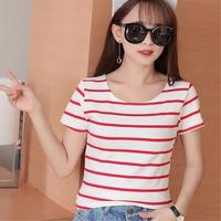 striped t shirt for girls 10 11 12 13 14 15 16 years children summer cotton short sleeve tees kids clothing girl tops FX6018