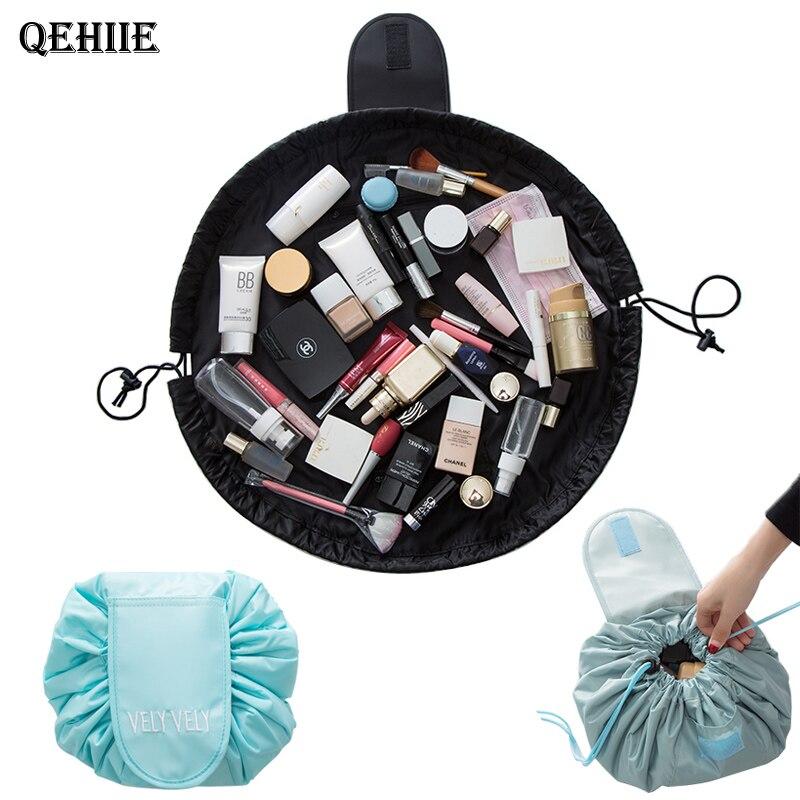 2018 nouveau paresseux maquillage sac portable voyage en vrac esthéticienne organisateur sac de lavage Sac de Maquillage Cosmétiques sacs de stockage de brosse