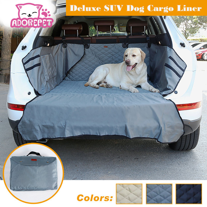 Dual-Use SUV Dog Cargo Liner Dog Pet Seat Cover Mat for SUV Truck dog cargo cover Pet Do ...