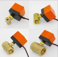 Electric actuator valve DC12V/DC24V electric ball valve 3 wires 2 control switch type two way three way electric valve
