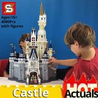 SY 1149 Cinderella Princess Castle City 4080pcs Model Compatible legoes 71040 Building Block Bricks Children Toy Gift DIY Toys