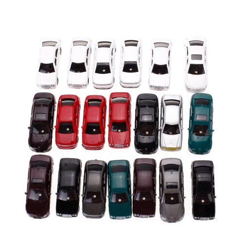 20 Pcs Painted Modell Car Building Track Layout 1:75
