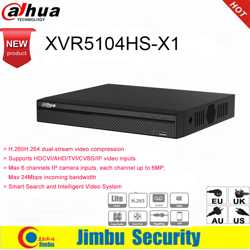 Dahua XVR XVR5104HS X1 4ch Up to 6MP H 265 H 264 Smart Search Penta brid