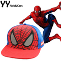 New  Children Cartoon Spiderman Baseball Caps Baby Boy Snapback Adjustable Children's Sports Hats Fit For 48-53cm YY0773