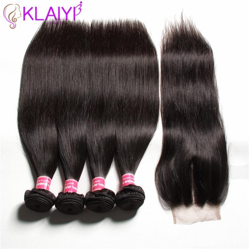 Image 4 - KLAIYI HAIR Malaysian Straight Hair Bundles With Closure 100% Human Hair Extension 3 Bundles With Closure Remy Hair FreeShipping-in 3/4 Bundles with Closure from Hair Extensions & Wigs
