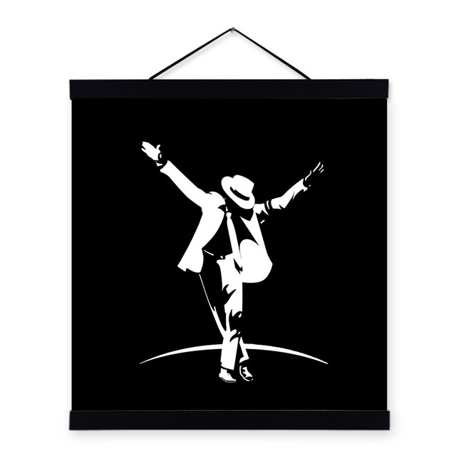machael jackson modern abstract black white poster prints minimalist pop music celebrity canvas paintings bedroom wall
