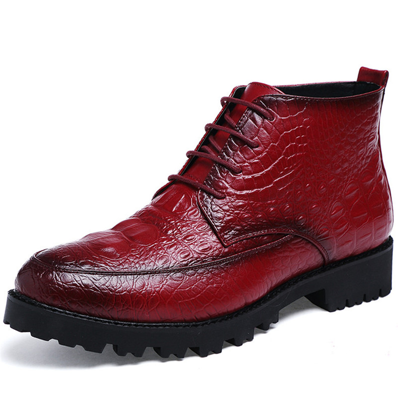 Brand Fashion Motorcycle Boots Leather Men's Ankle Boots High Quality Breathable Work Botas Hombre Shoes for Men Dress Business
