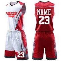Мужские баскетбольные Джерси с принтом на заказ, детские спортивные костюмы для колледжа, дышащая мужская баскетбольная форма, спортивная одежда для девочек