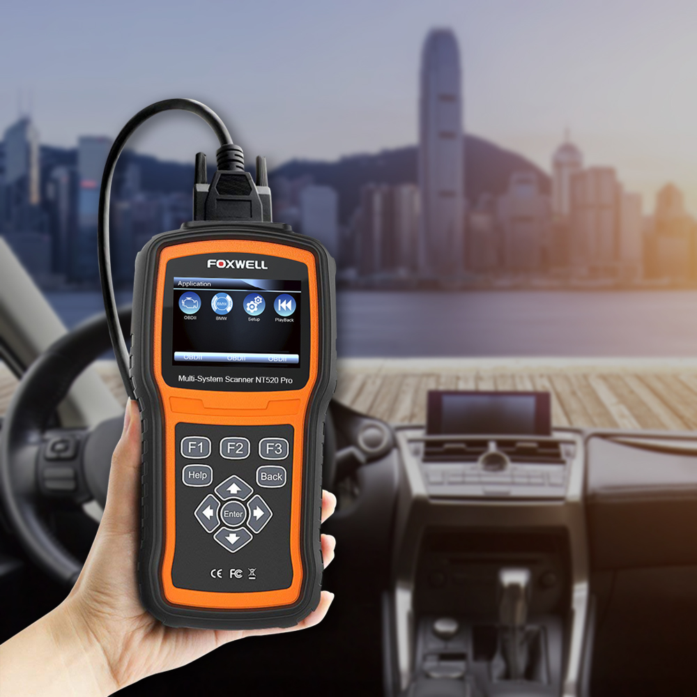 Image 5 - Foxwell NT520 Pro Auto Diagnostic Tool ABS Airbag SAS Transmission DPF Battery Registration Full System Code Reader OBD2 Scanner on