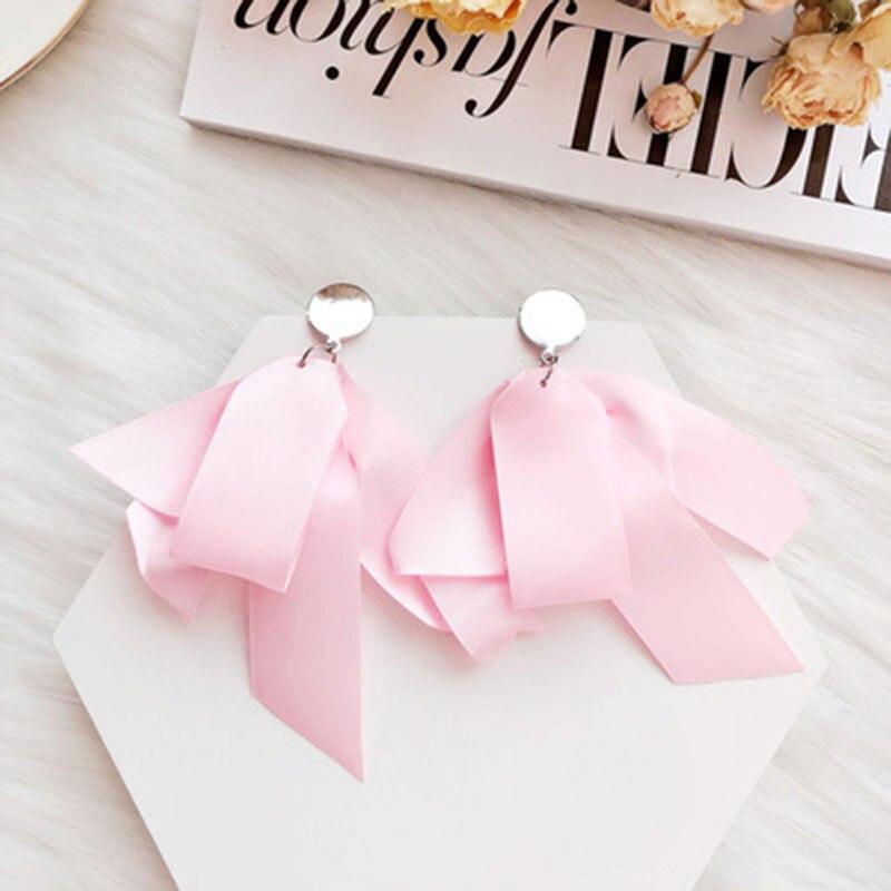 Pink series ear nails Earrings Flower loving shape wing hair ball jewelry women multi color