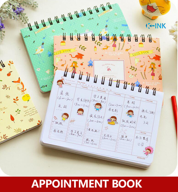 Cartoon Cute Appointment Book  Girls Weekly Planner  Daily