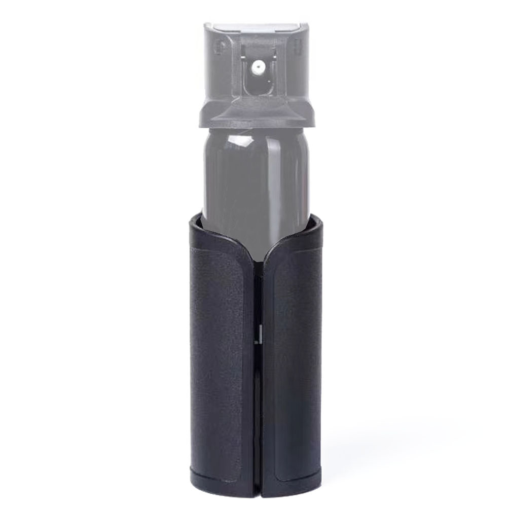 Mở Tope Polymer Pepper Spray OC Pouch, Nhiệm Vụ Bánh Mace Phun Giữ Túi, Matt Đen