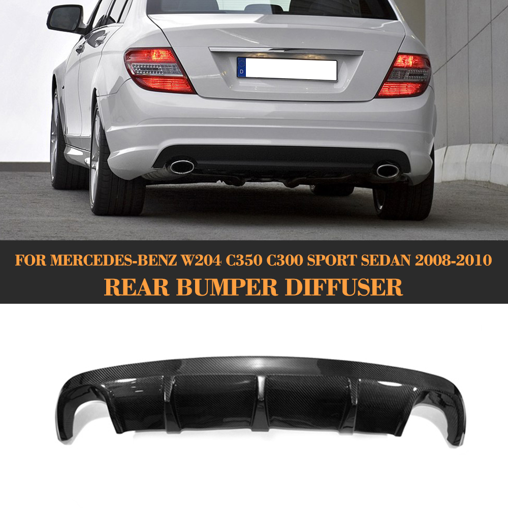 REAL CARBON FIBER REAR DIFFUSER AMG TYPE FOR 08-10 BENZ W204 C300 C-CLASS