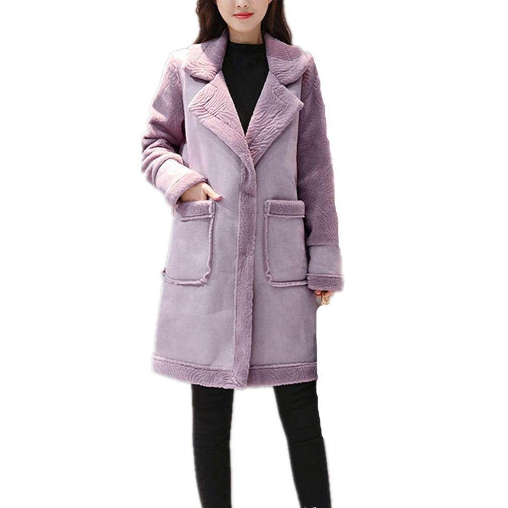 Fourrure Coton Fausse marron Colly De D'hiver Fox Lisa Manteau lavande Chaud Casual Fourrures En Femmes Veste Rose Mode Nouvelles Épaisse nvzUn1Ywq