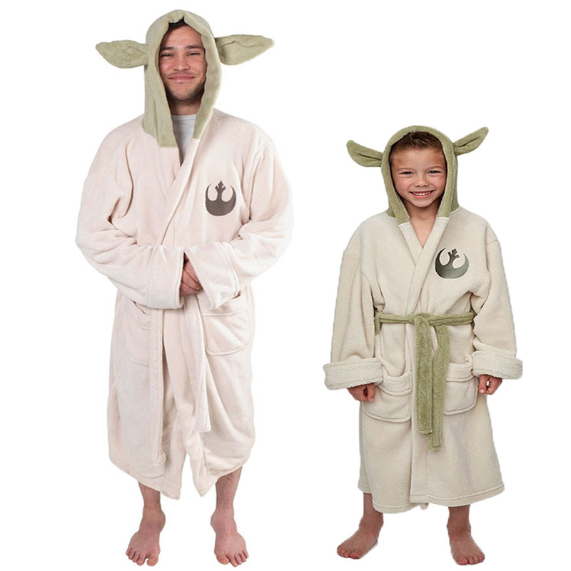 Detail Feedback Questions about Star Wars Master Yoda Cosplay Adult   Children Kids Robes High quality Warm Soft Sleep Top Funny with Hat Pajama  2017 New ... 066008ab6