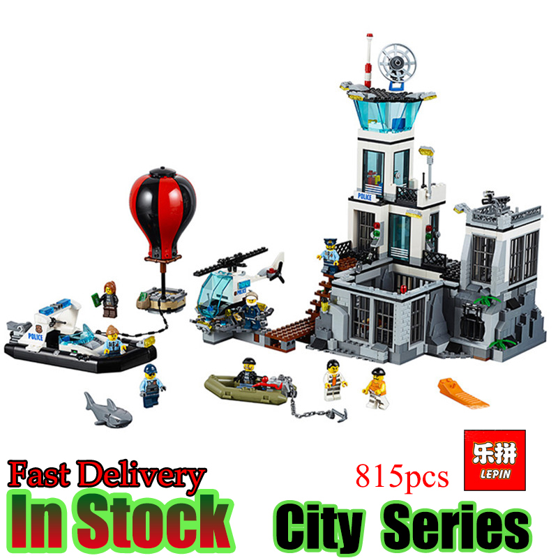 Lepin 02006 815pcs City Series The Prison Island Set Building Blocks Bricks Educational Toys for children Gift brinquedos  lis lepin 02006 815pcs city series prison island set children educational building blocks bricks boy toys with 60130