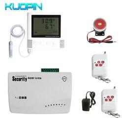 Manopola Auto E SMS di GSM Sistema di Allarme di Monitoraggio di Sicurezza Domestica di Temperatura E Umidità Termometro Esterno Dell'interno Umidità Monitor