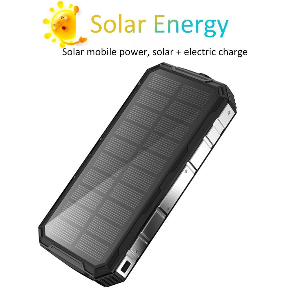 Chargeur solaire 20000 mAh Super grande capacité solaire pliant Pack batterie Portable solaire Mobile puissance étanche Portable chargeur de batterie