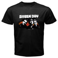 New GREEN DAY Punk Rock Band Personels Men S Black T Shirt Size S M L