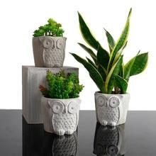 Moldes de silicona para maceta de hormigón y arcilla, forma Circular de construcción, molde de macetero de cemento, herramientas decorativas para bonsái hechas a mano