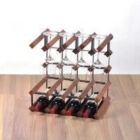 Red Wine Glass Rack Upside Down Home Wine Holder Rack Modern Decoration Solid Wood Wine Display Shelf Wine Holders Creative