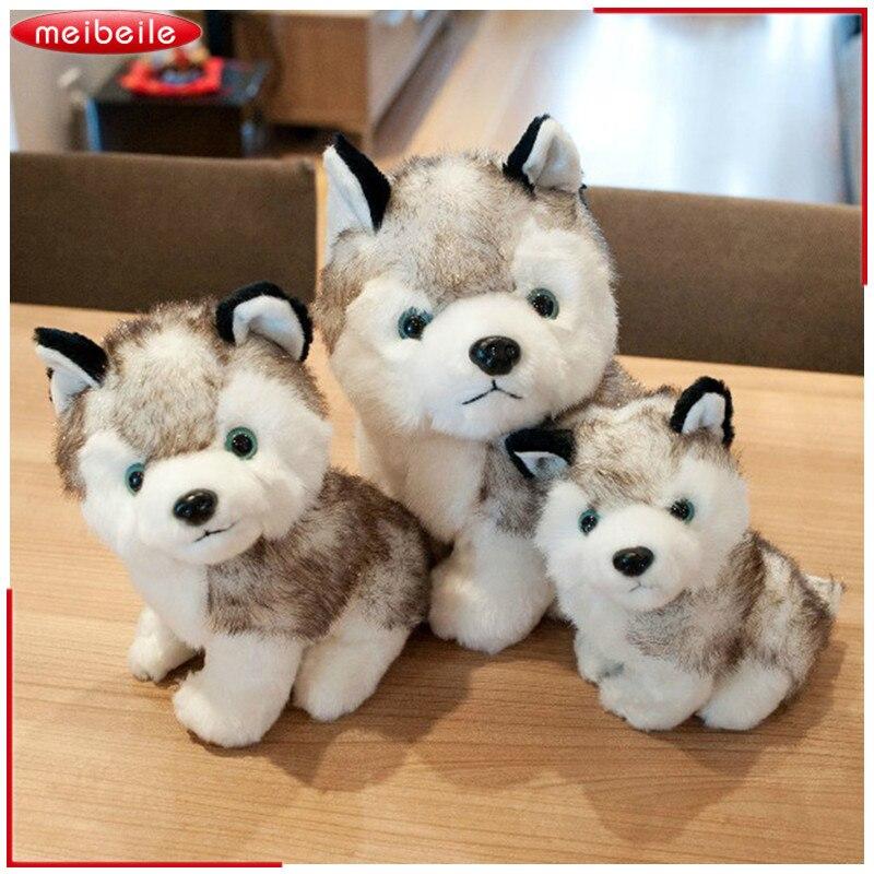 Горячие Продажа Kawaii 18 см Моделирование хаски собака плюшевая игрушка в подарок для детей Детские игрушки подарок на день рождения мягкие пл...