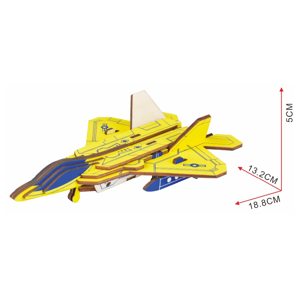 F22 Raptor fighter Kids toys 3D Puzzle wooden toys Wooden Puzzle Educational toys for Children