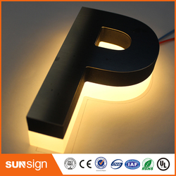 Laser di taglio del metallo 3d illuminato casa di numeri e lettere segno con retroilluminazione a led