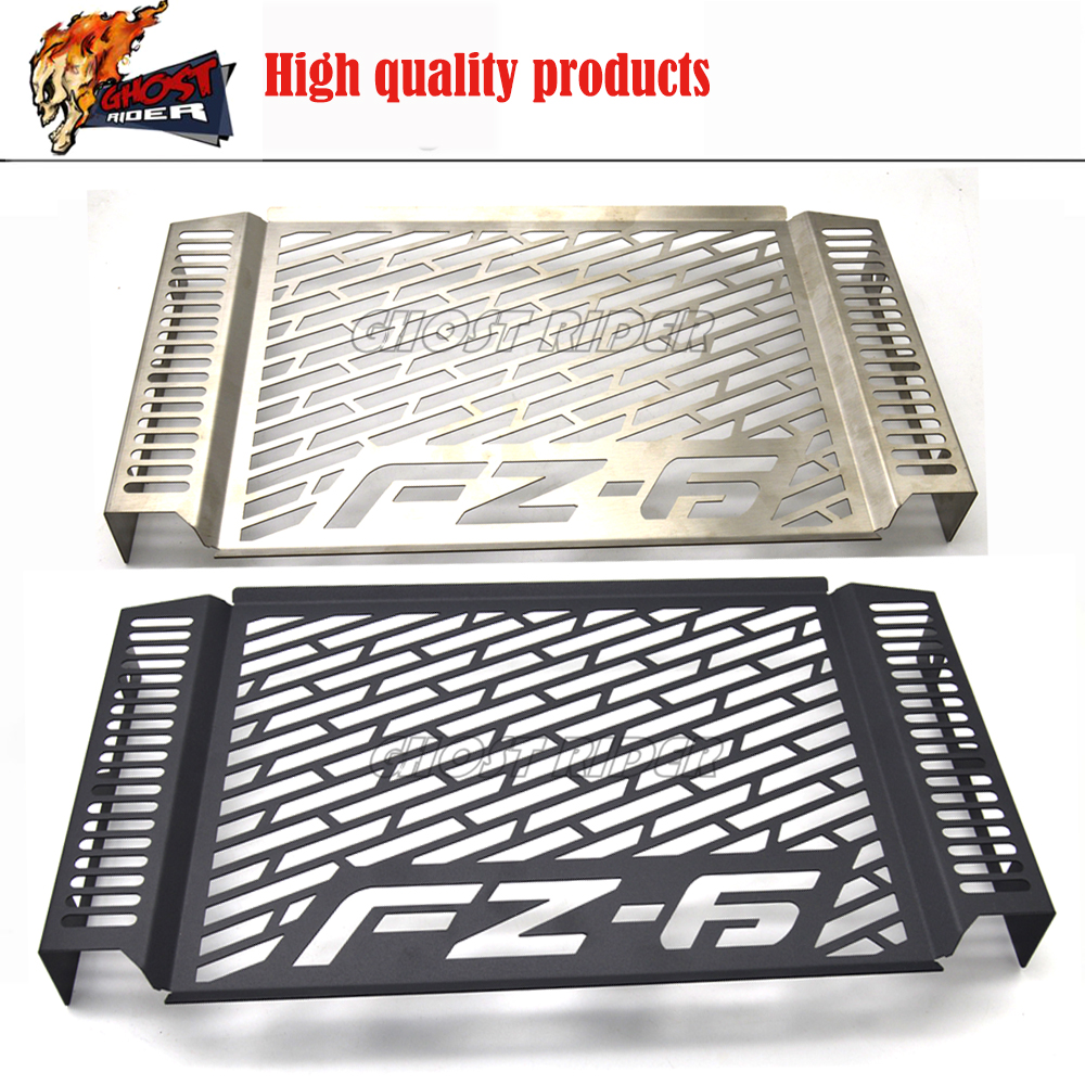 Stainless Steel Motorcycle Radiator Grille Guard Cover Protector For YAMAHA FZ 6 FZ6 2007-2010 2008 2009fz6