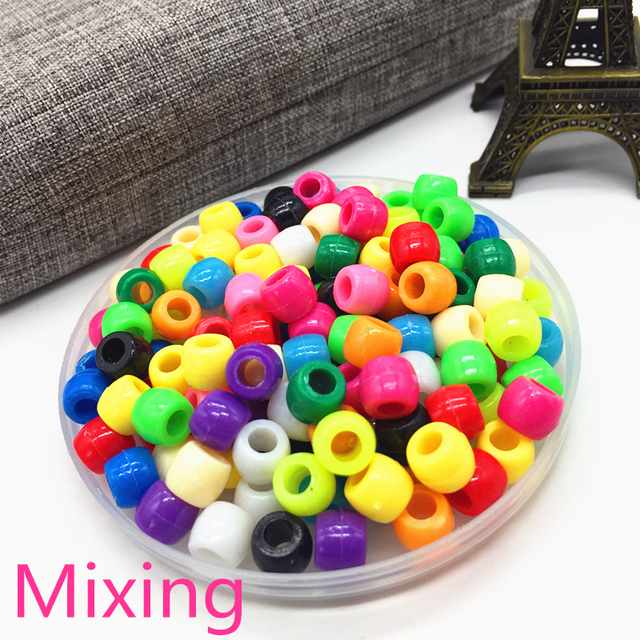 100pcs 6mm Bracelet Accessories Children Gift DIY Bracelet Earrings Charms Necklace Beads For Jewelry Making Mixing