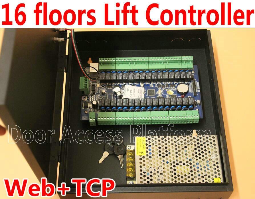 16 Etagen Gebäude Web Tcp/ip Netzwerk Lift Controller Panel Lift Controller, Aufzug Pcb Mit Tcp/ip Telekommunikation Zu Schalter