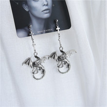 Exaggerated punk alloy cross dragon pendant earrings men and women fashion jewelry accessories