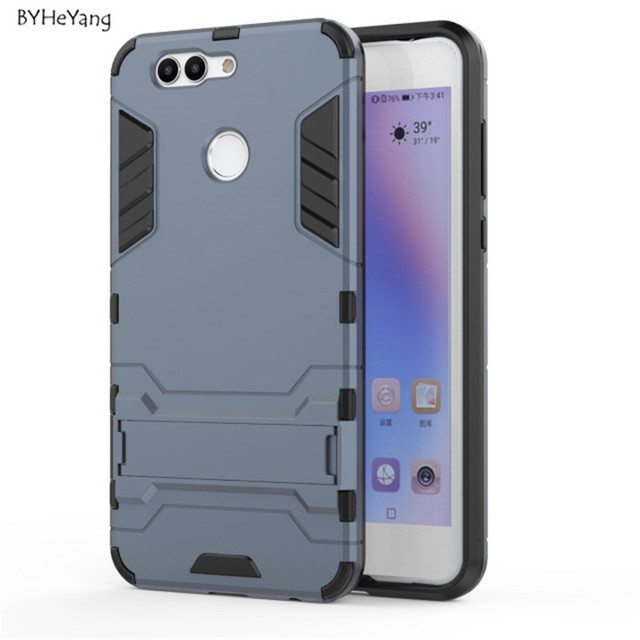 online retailer cc577 86398 US $3.05 |BYHeYang for Huawei Nova 2 Plus Case Armor Shockproof Hard  Silicone Rugged Rubber Phone Cover With Stand for Huawei Nova 2 Plus-in  Fitted ...