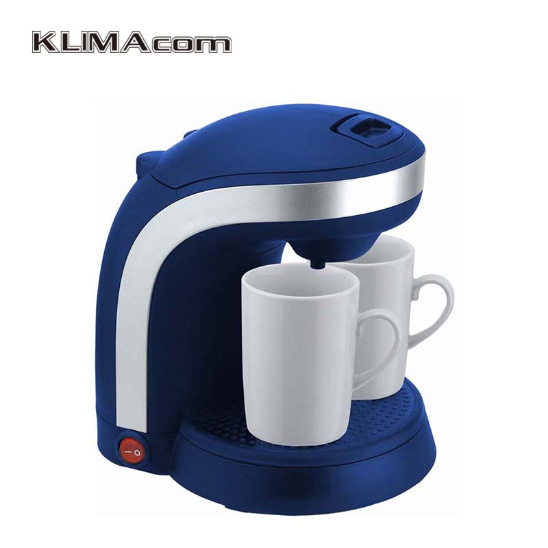 350W Plastic 2 cups Drip coffee maker full automatic Coffee filter machine Kaffemaskine Black New Home coffee-maker american coffee maker uses a drip automatic machine