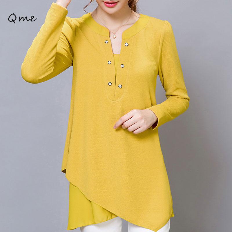 Korean Yellow Blouse Blouse Styles