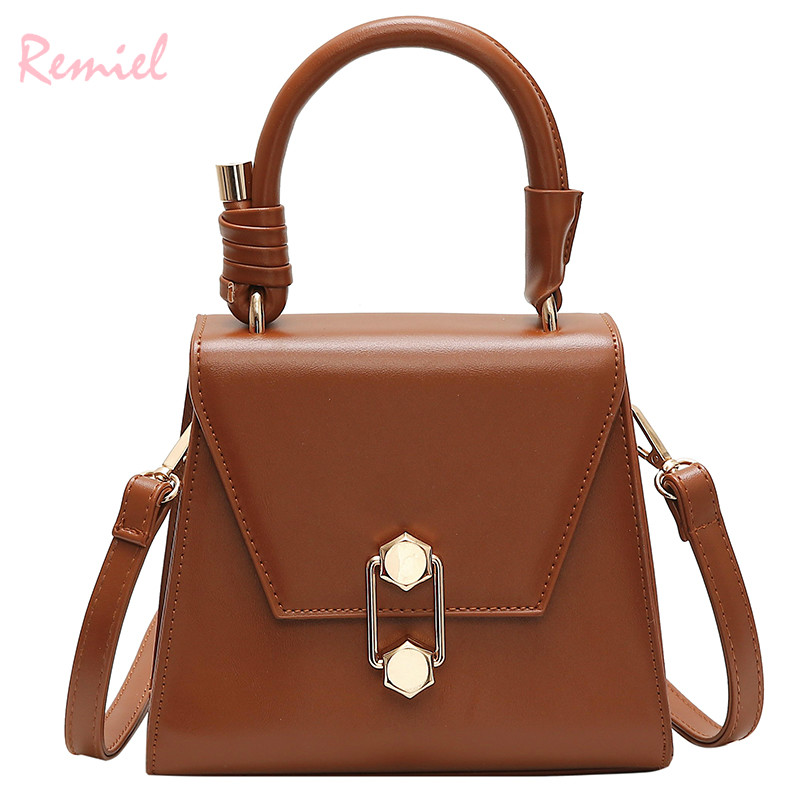 Luxury Handbag Vintage Fashion Female Tote bag 2019 New Quality PU Leather Women's Designer Handbag Lock Shoulder Messenger bags