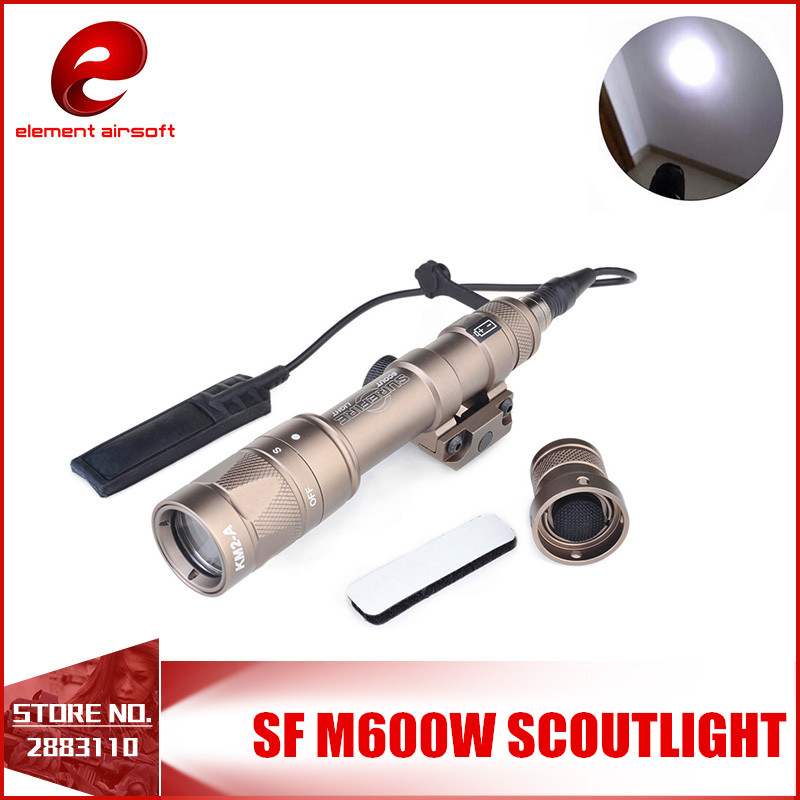 Element Tactical Scout light LED Weapon Flashlight M600W Full New Version Tactical Flashlight For Gun  EX377 AND WARGAME