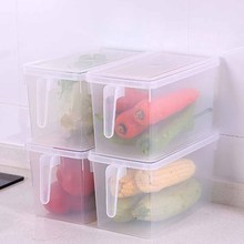 Durable Refrigerator Sealed Transparent Box Home Kitchen Food Container 4.7L with Lid Storage