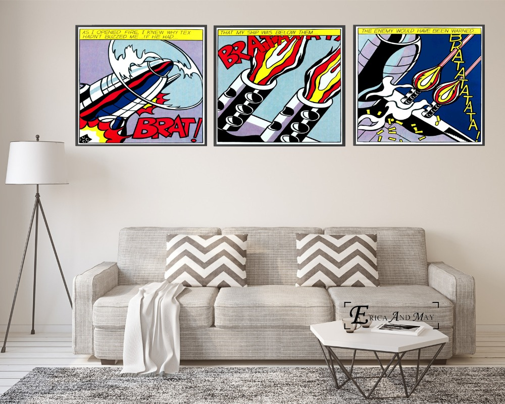 Brat Pop Art Comic On Sale Poster Wall Painting Living Room Abstract Canvas Art Pictures For Home Decor No Frame