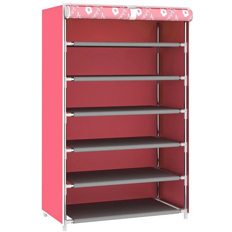 Simple Assembled Shoe Racks Cabinet Shoe Storage Furniture Shelves Dustproof Shoe Stand Shelf Holder Pink Blue