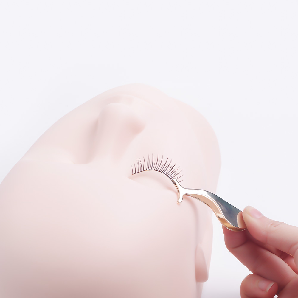 Flat Silicone Mannequin Head Massager Eyelash Extensions Training