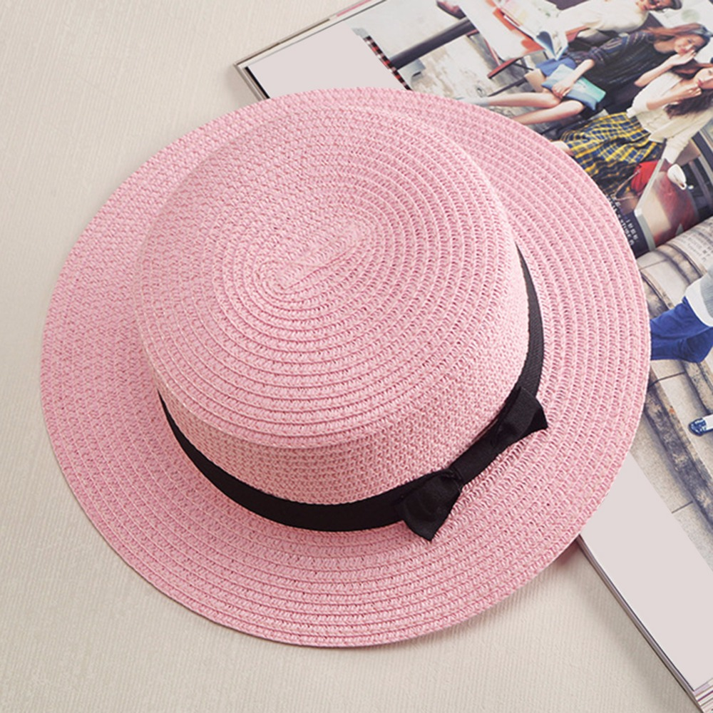 3c21f99489d Himanjie Summer Straw Hats Wide Brim Bow Tie Dome Stylish Floppy Fedoras  Beach Cap Jazz Hat For Women Caps Chapeau Feminino