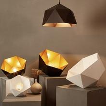 Nordic Pendant Lights For Home Lighting Modern Hanging Lamp Iron Lampshade LED Bulb Bedroom Coffee Kitchen Light 90-260V E27