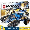 333 unids 10222 bela ninja trueno raider chariot building blocks establece ladrillos niños clásicos juguetes compatible con lego movie