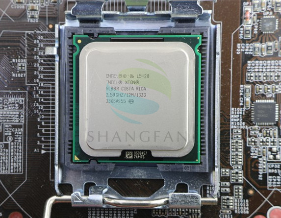 INTEL XEON L5420 SLBBR 2 5GHz 12M 1333Mhz CPU equal to LGA775 Core 2 Quad Q9300