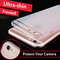 Esamday genuino 0,3mm Ultra delgado Delgado mate frost translúcido funda para iPhone X XS X MAX XR 5 6 6 s 7 8 Plus Protector de la cubierta