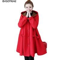 2018 winter new Korean large size casual jacket coat women winter warm plus velvet thick hooded parka long women windbreaker