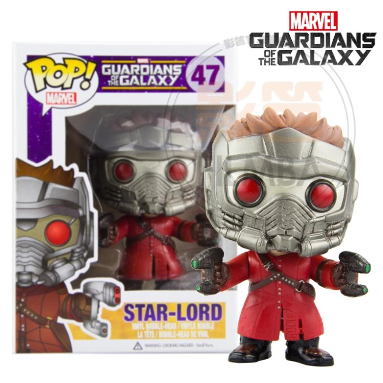 "Genuine <font><b>funko</b></font> <font><b>pop</b></font>, <font><b>funko</b></font> <font><b>Guardians</b></font> <font><b>of</b></font> <font><b>the</b></font> <font><b>Galaxy</b></font> <font><b>47</b></font> <font><b>Star-Lord</b></font> vinyl figure 3.75"" bobble-head figure <font><b>pop</b></font> figures <font><b>funko</b></font> <font><b>pop</b></font> dolls"