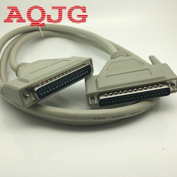 Novo 1.4 m db37 37pin macho para macho m/m porta serial cabo de dados para impressora de fio aqjg